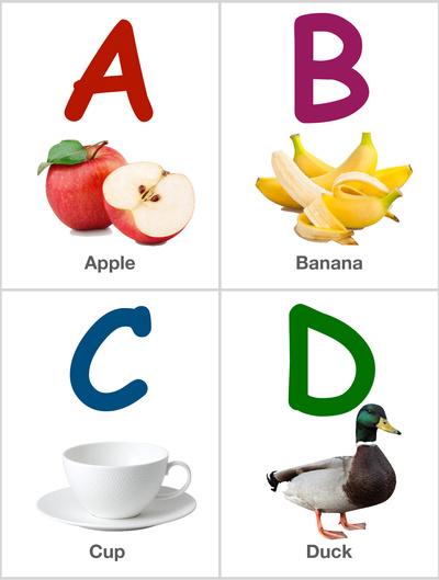Alphabet Flashcards: ABCD