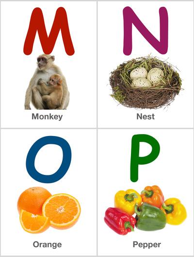 Alphabet Flashcards: MNOP