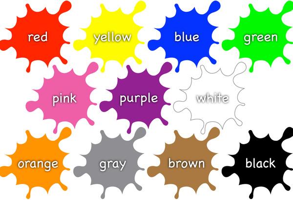 Color Names on Paint Splats