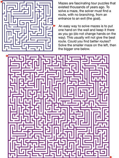 Exploring two amazing square mazes