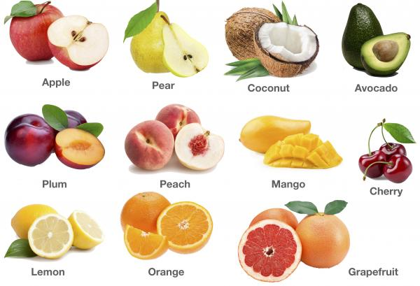 Fruits Pictures: Pomes, Drupes and Citruses