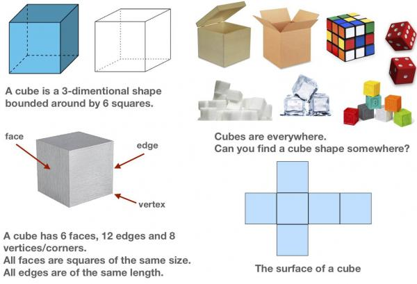 All About 3D Shapes - What is a Cube?
