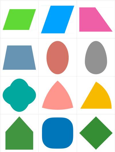 Twelve Irregular Figures of Shapes