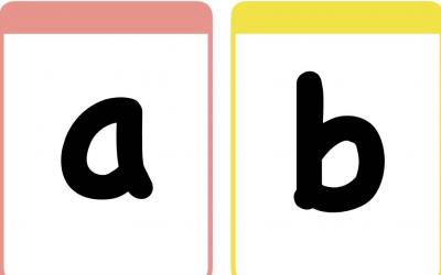 Alphabet Flash Cards in Lowercase