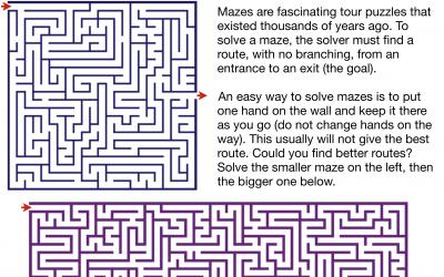 Exploring two amazing square mazes