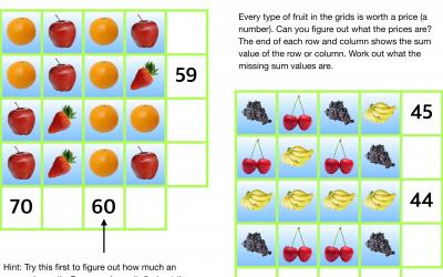 A fruity challenge using simple algebra