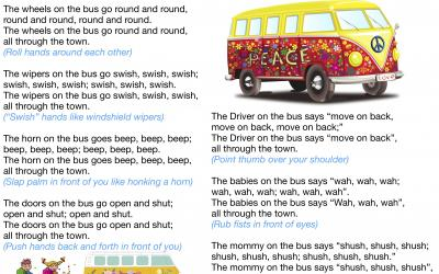 Wheels on the Bus - Nursery Rhyme Lyrics