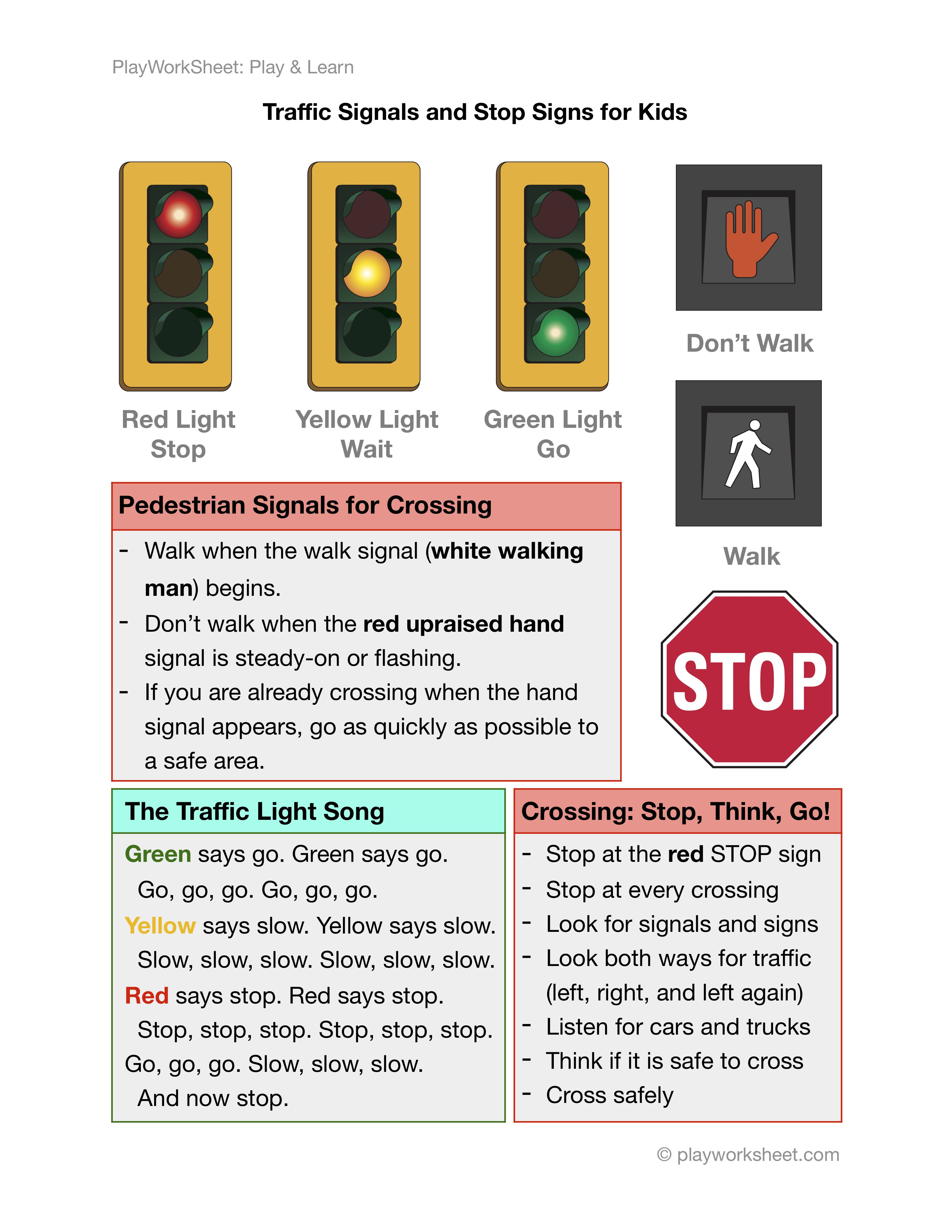 Traffic Light, Pedestrians Signals and Stop Signs for ...